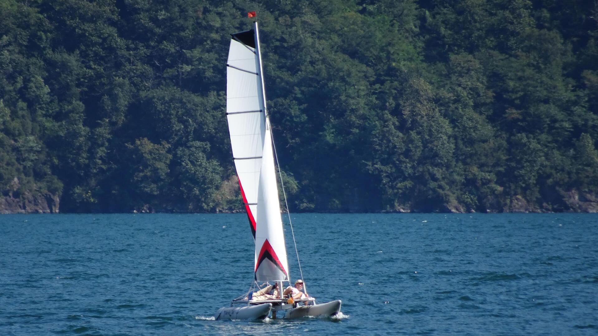 vorsegel eines segelbootes